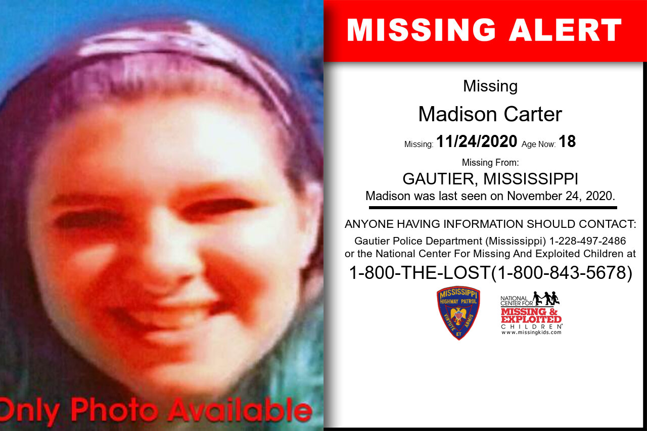 Madison_Carter missing in Mississippi