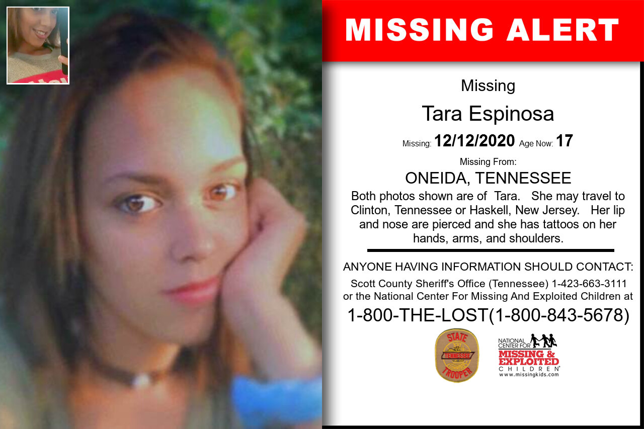 Tara_Espinosa missing in Tennessee