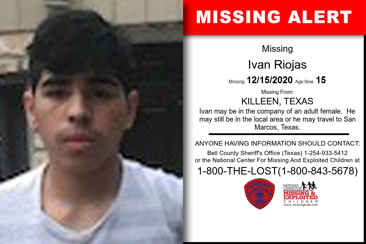 Ivan_Riojas missing in Texas