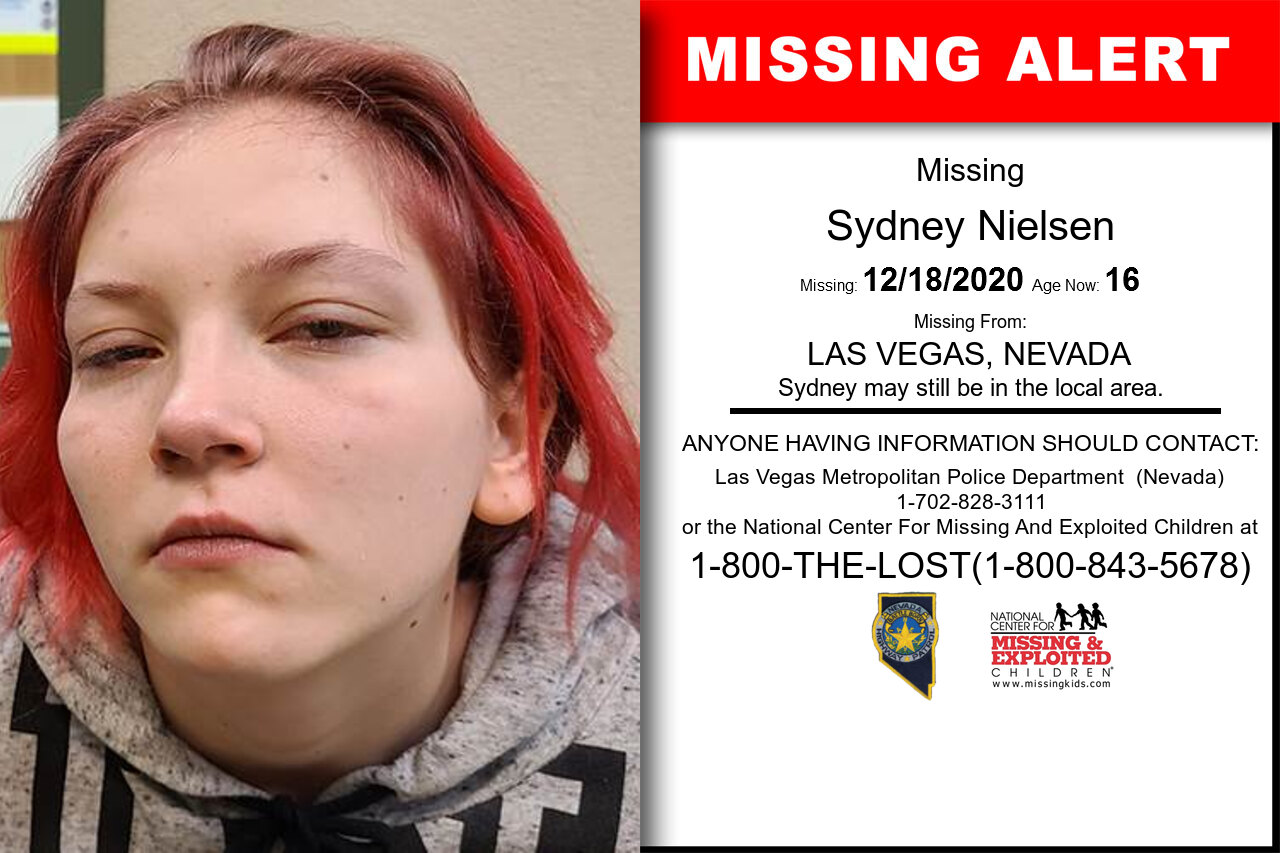 Sydney_Nielsen missing in Nevada