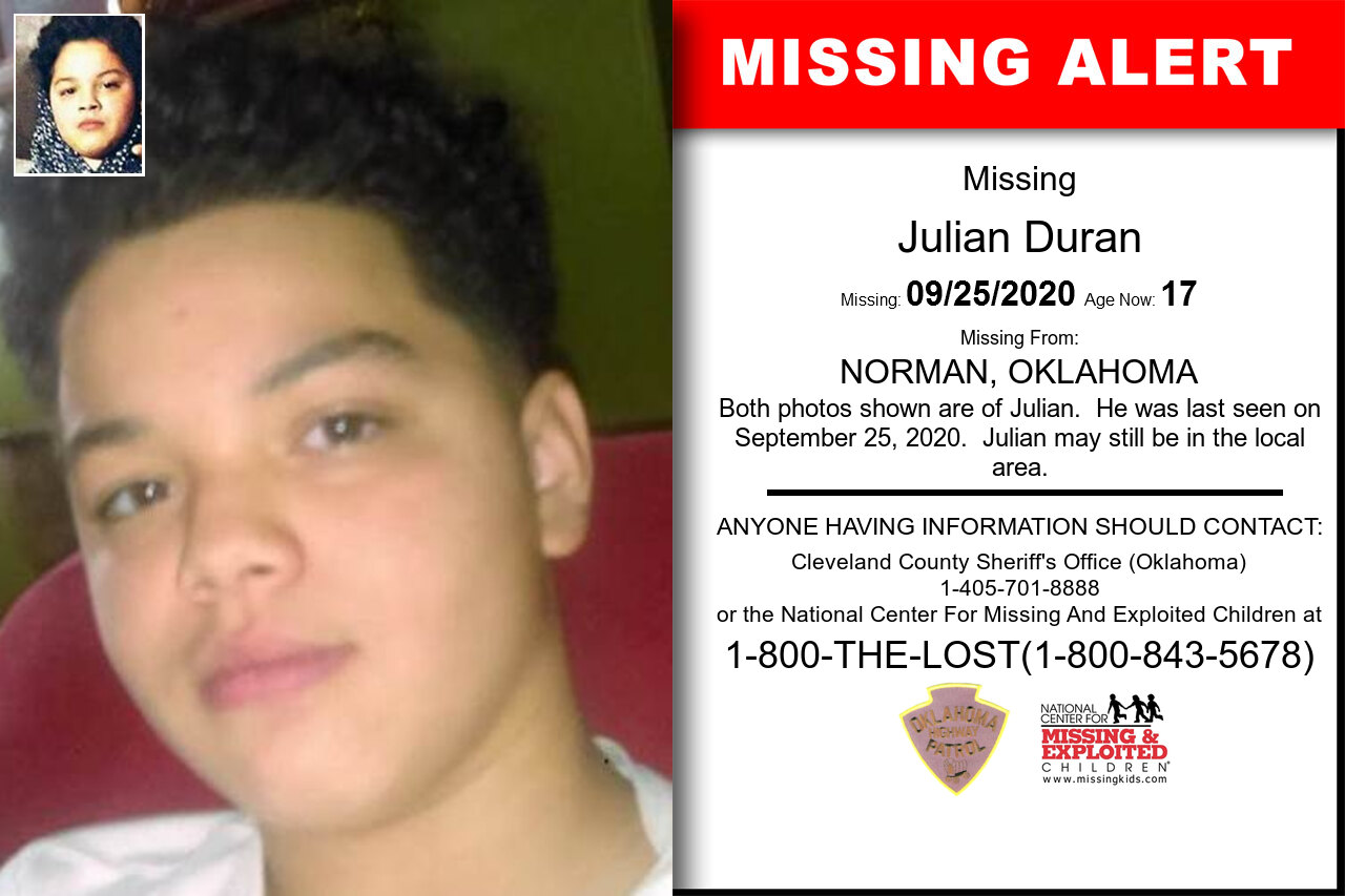 Julian_Duran missing in Oklahoma