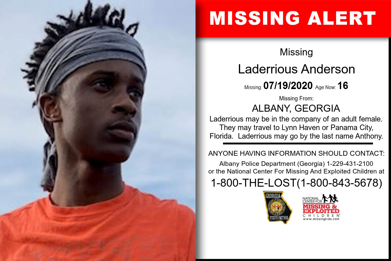 Laderrious_Anderson missing in Georgia