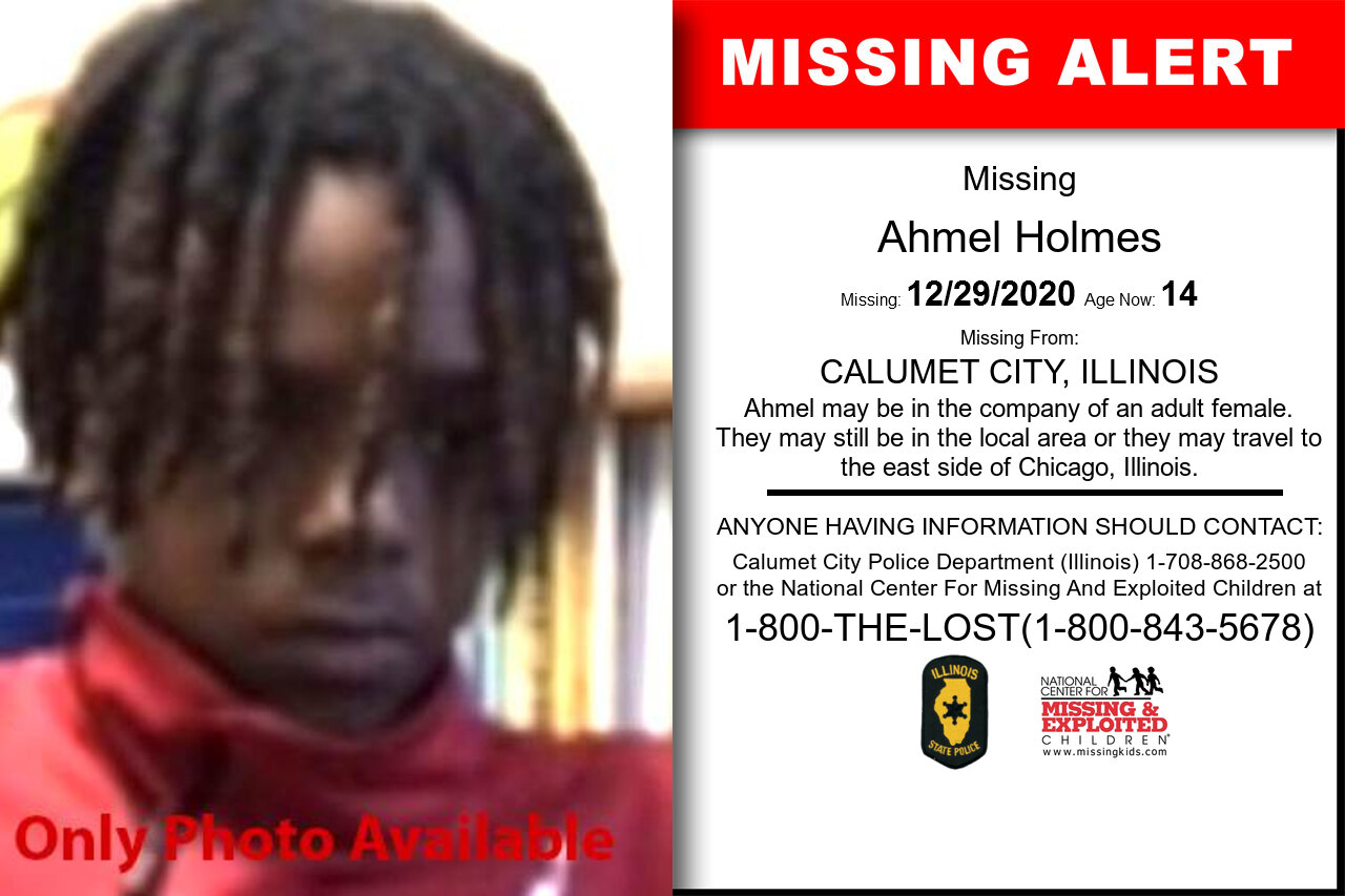 Ahmel_Holmes missing in Illinois