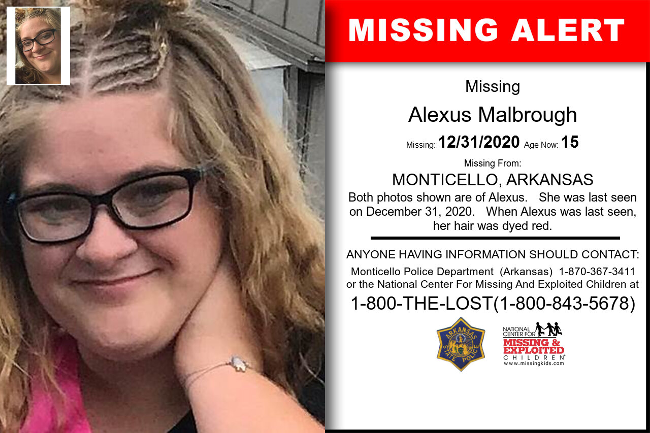 Alexus_Malbrough missing in Arkansas