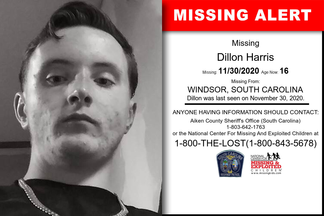 Dillon_Harris missing in South_Carolina
