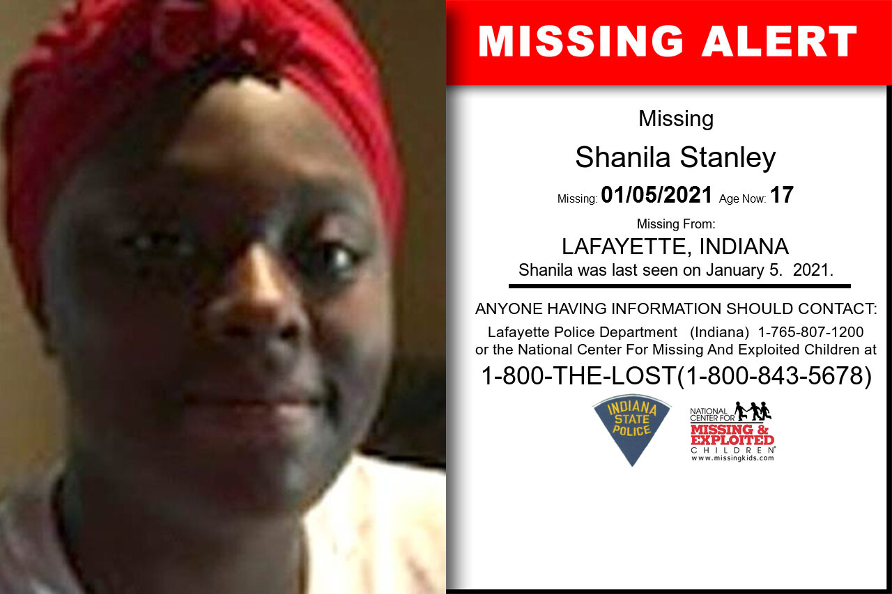 Shanila_Stanley missing in Indiana