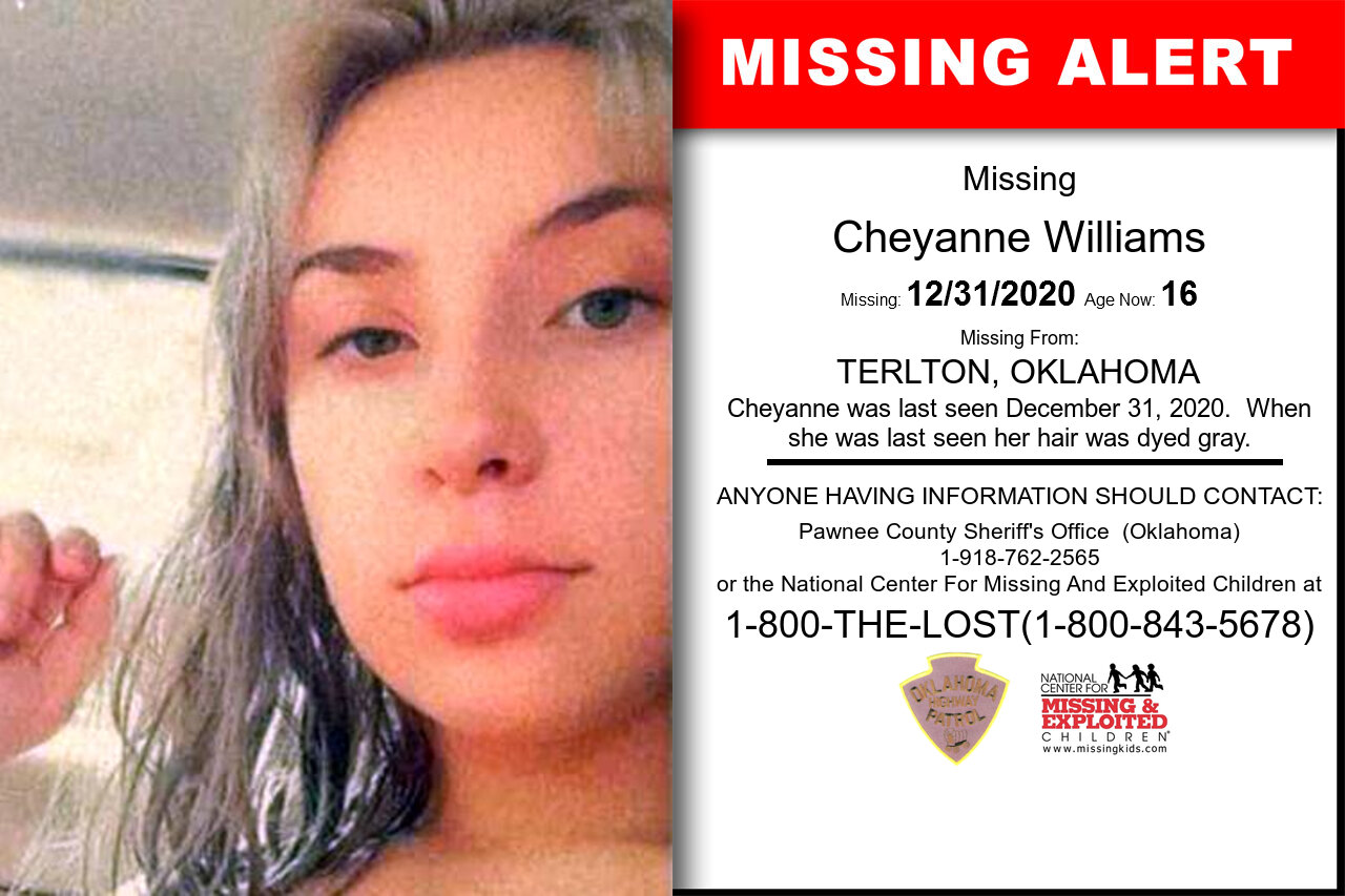 Cheyanne_Williams missing in Oklahoma