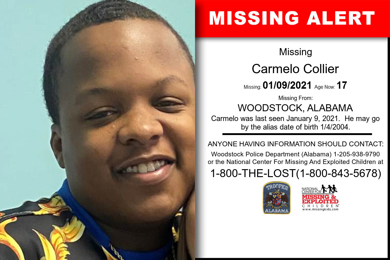 Carmelo_Collier missing in Alabama