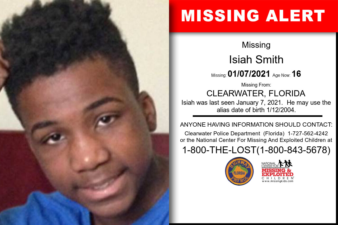 Isiah_Smith missing in Florida