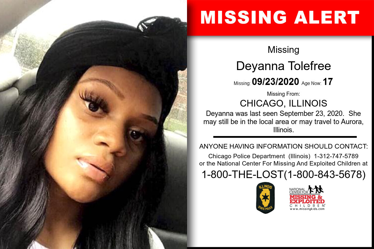 Deyanna_Tolefree missing in Illinois