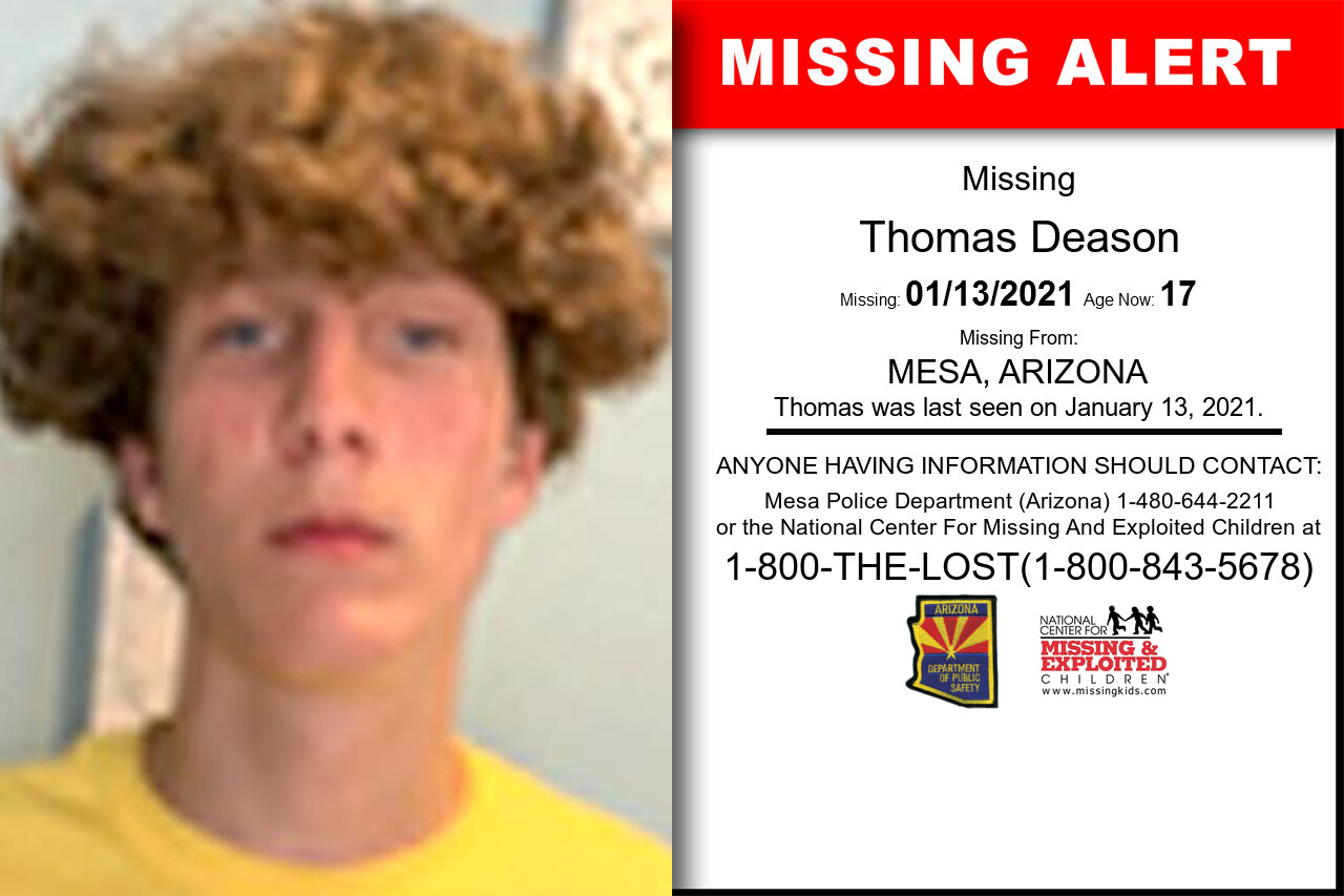 Thomas_Deason missing in Arizona