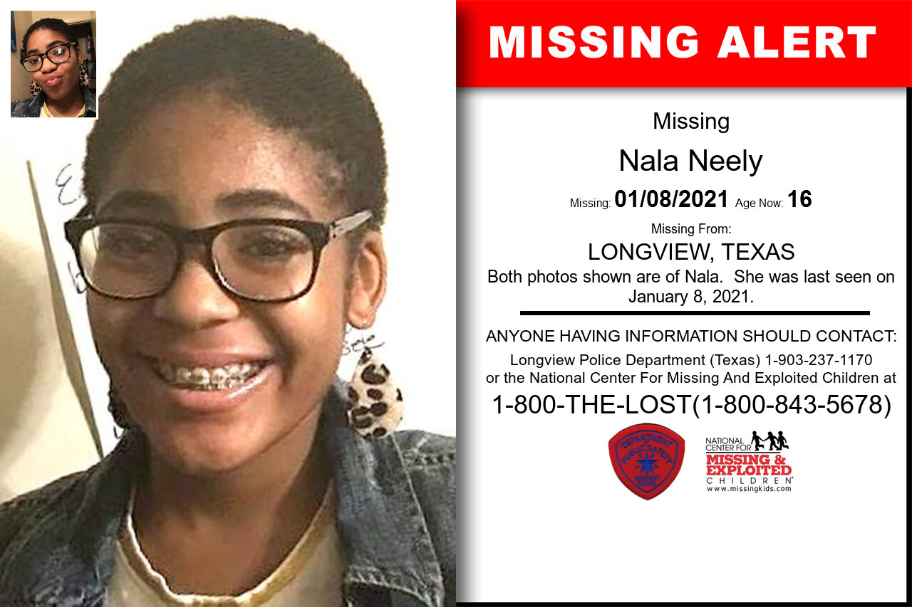 Nala_Neely missing in Texas