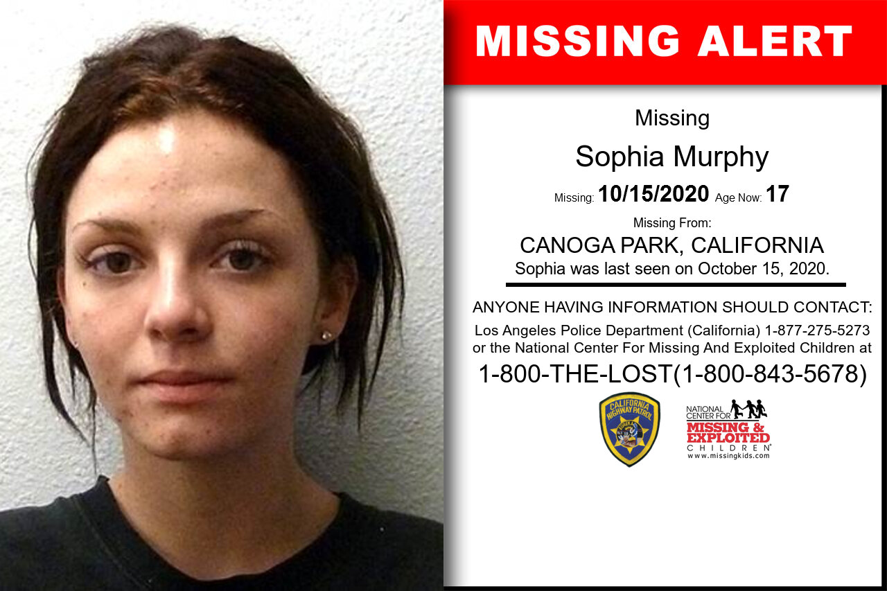 Sophia_Murphy missing in California
