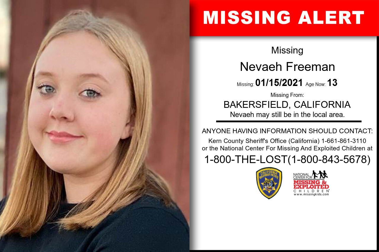 Nevaeh_Freeman missing in California
