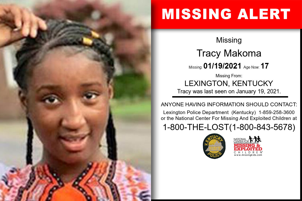 Tracy_Makoma missing in Kentucky