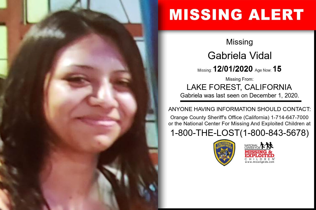 Gabriela_Vidal missing in California