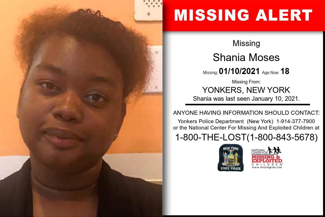 Shania_Moses missing in New_York