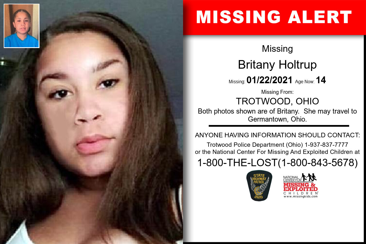 Britany_Holtrup missing in Ohio