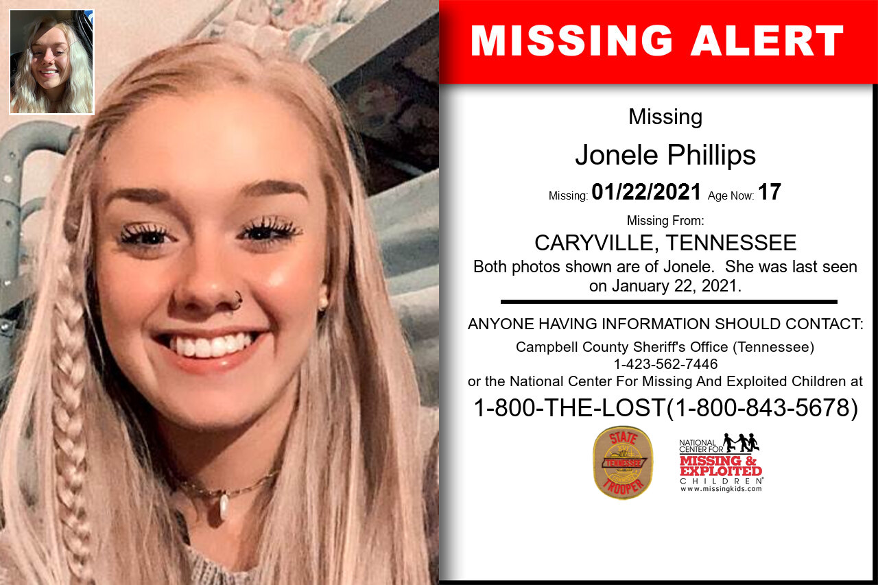 Jonele_Phillips missing in Tennessee