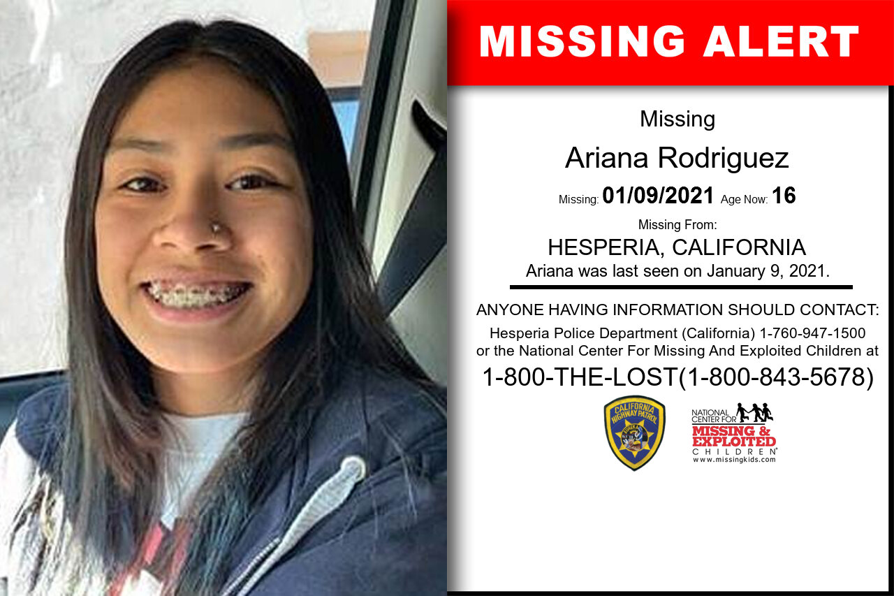 Ariana_Rodriguez missing in California