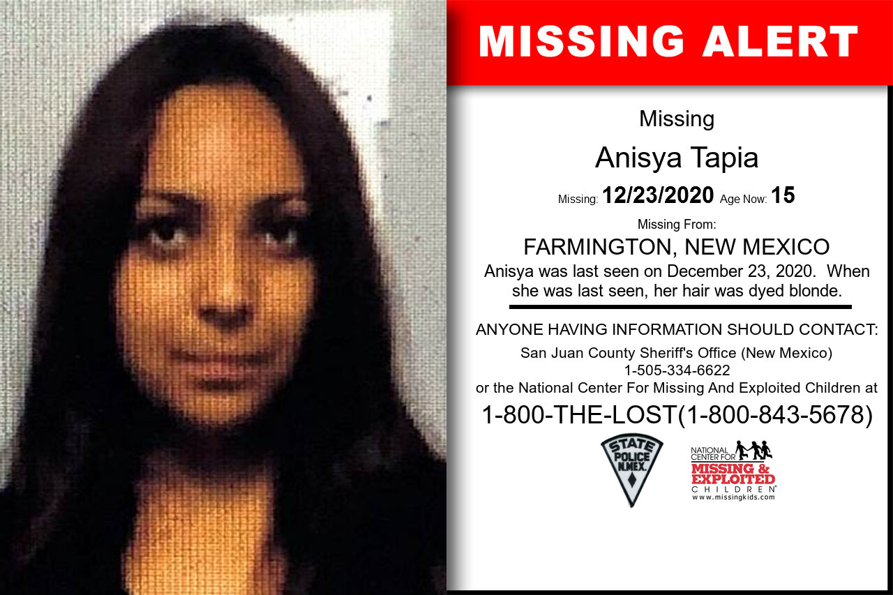 Anisya_Tapia missing in New_Mexico
