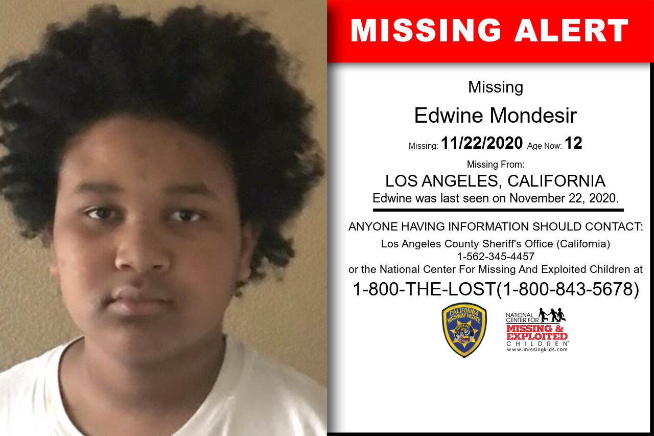 Edwine_Mondesir missing in California