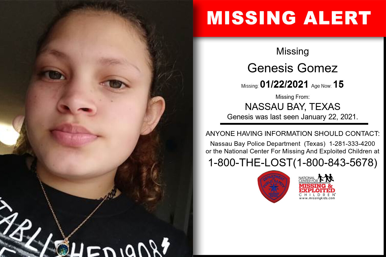 Genesis_Gomez missing in Texas