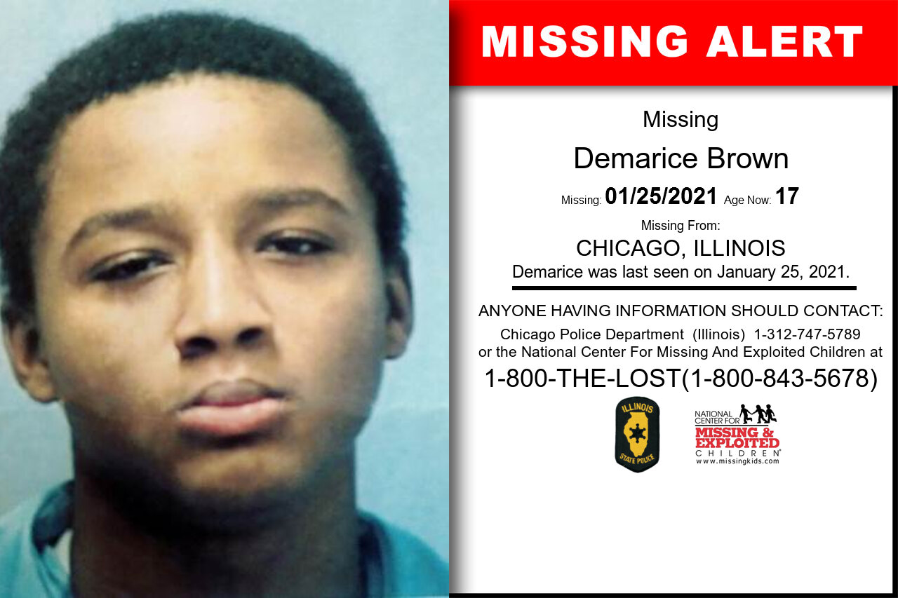Demarice_Brown missing in Illinois