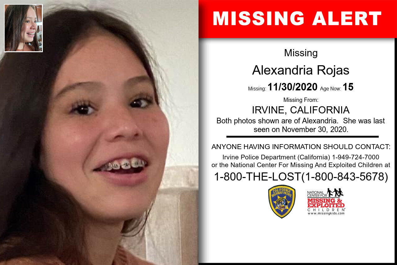 Alexandria_Rojas missing in California