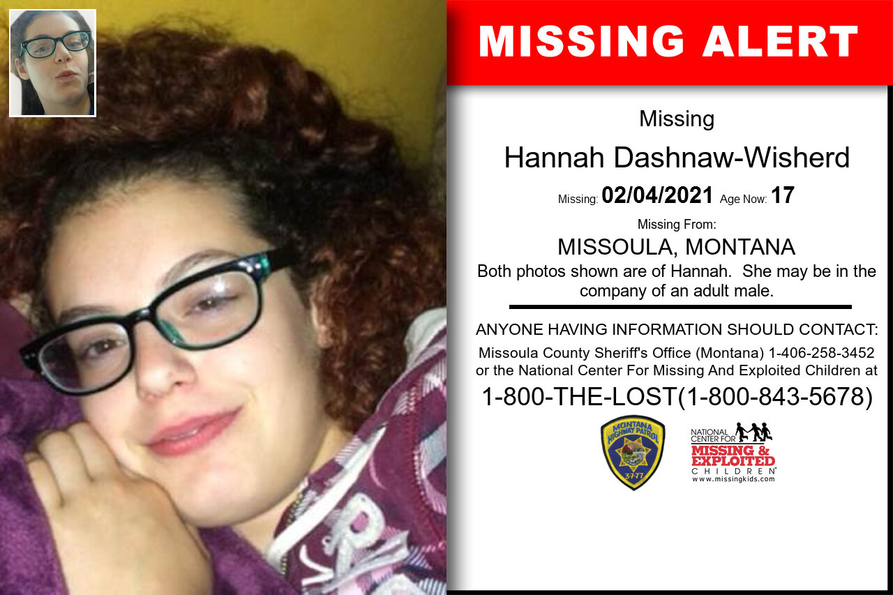 Hannah_Dashnaw-Wisherd missing in Montana