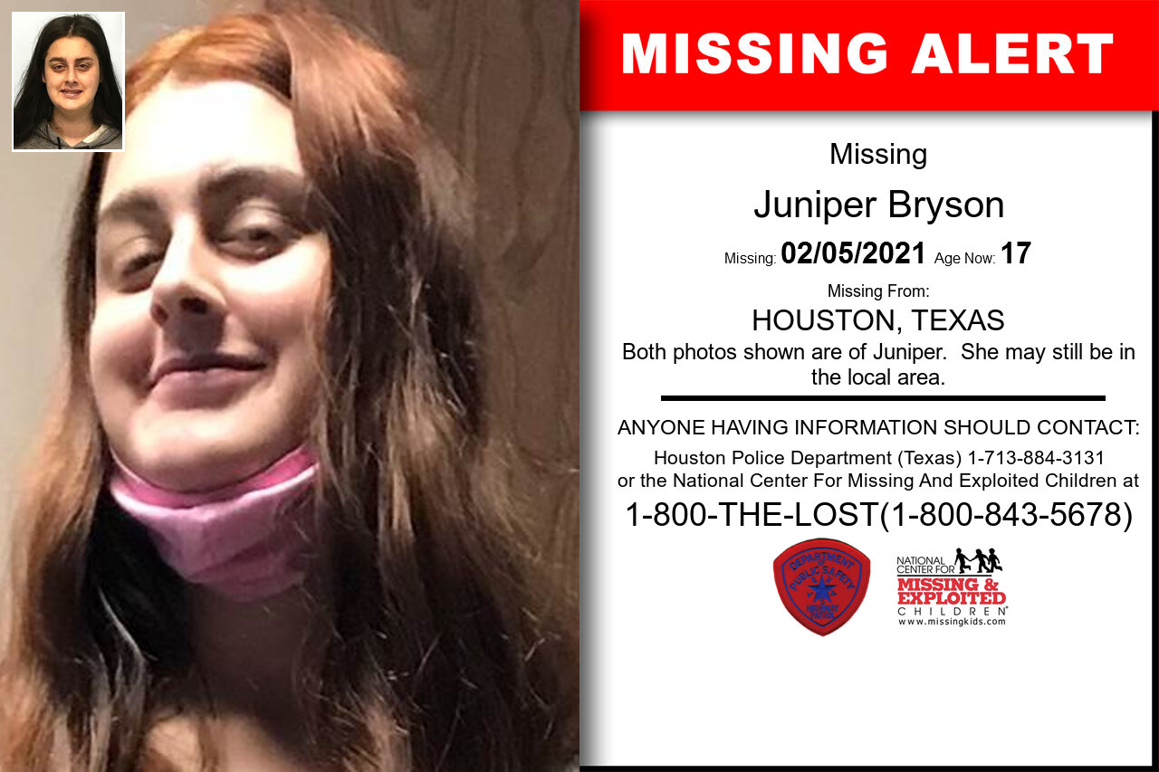Juniper_Bryson missing in Texas