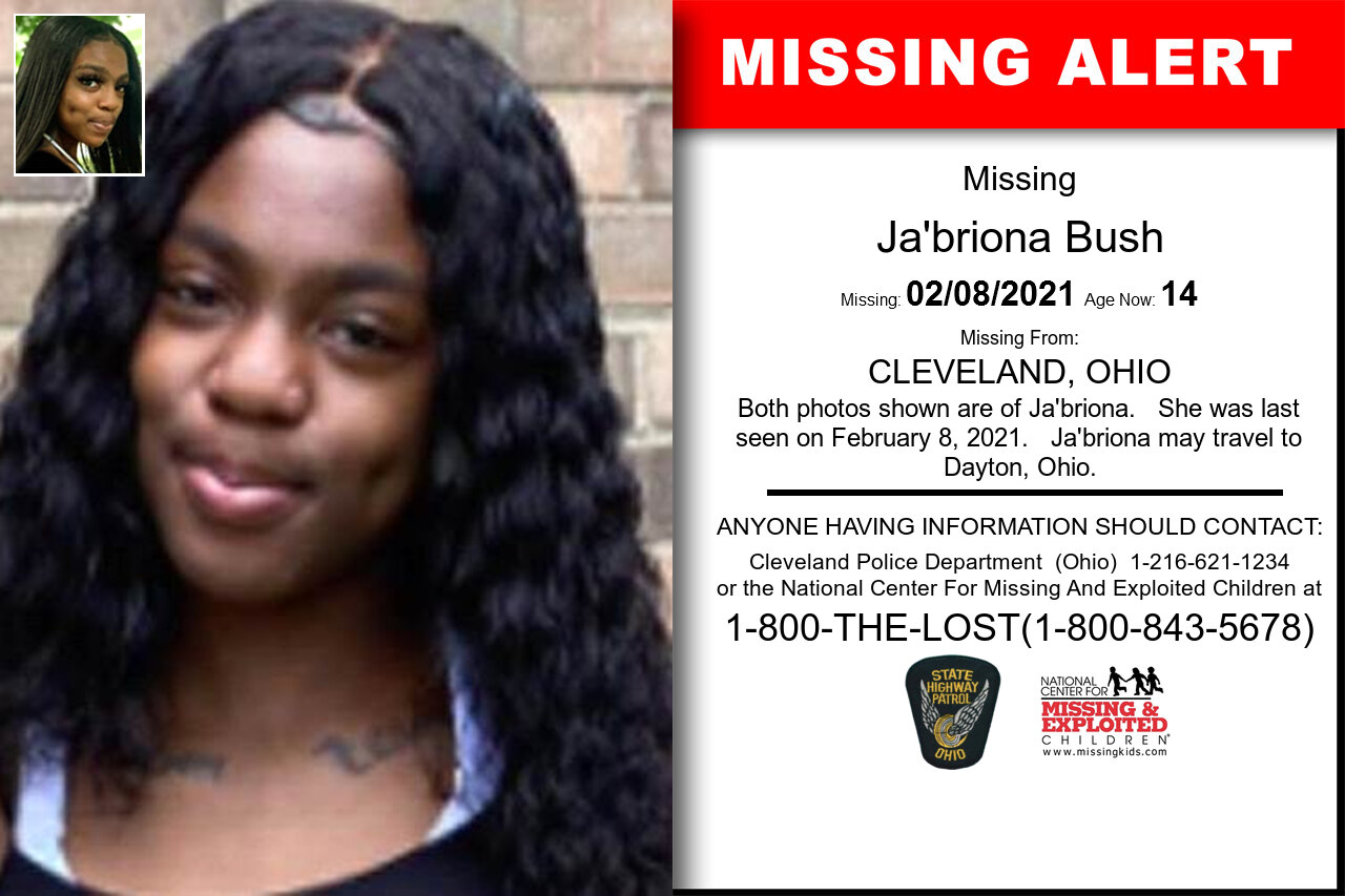 Ja'briona_Bush missing in Ohio