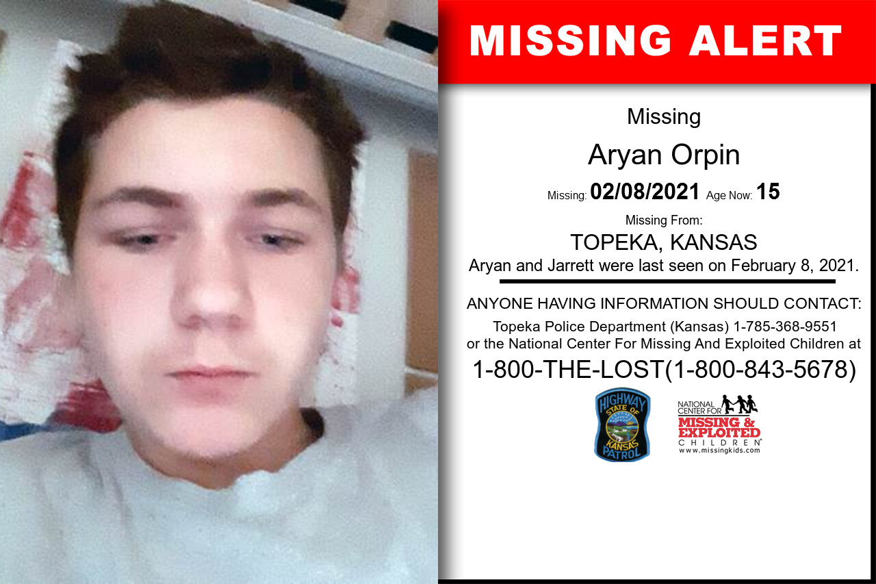 Aryan_Orpin missing in Kansas
