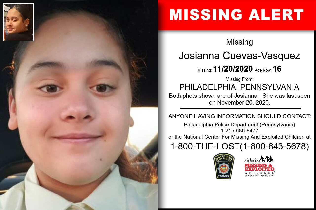 Josianna_Cuevas-Vasquez missing in Pennsylvania