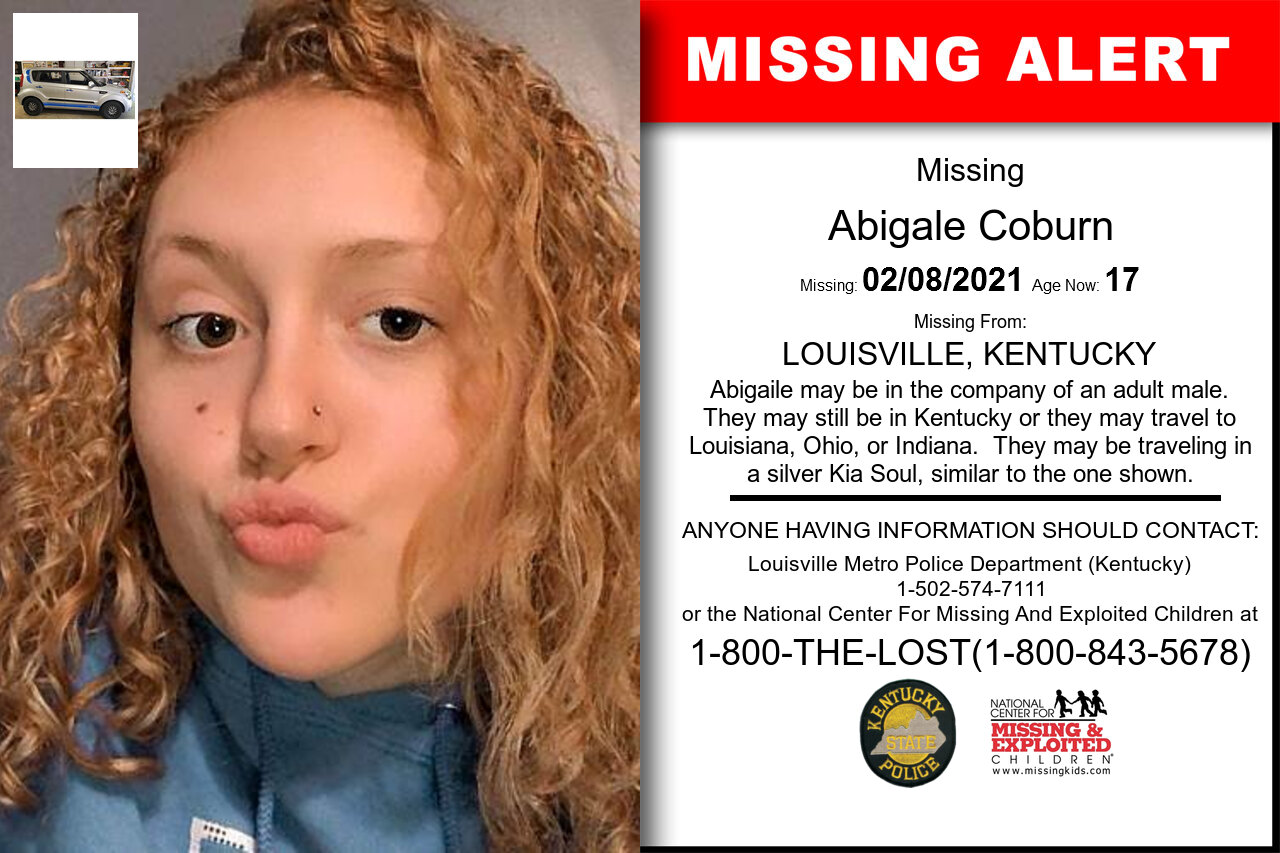 Abigale_Coburn missing in Kentucky
