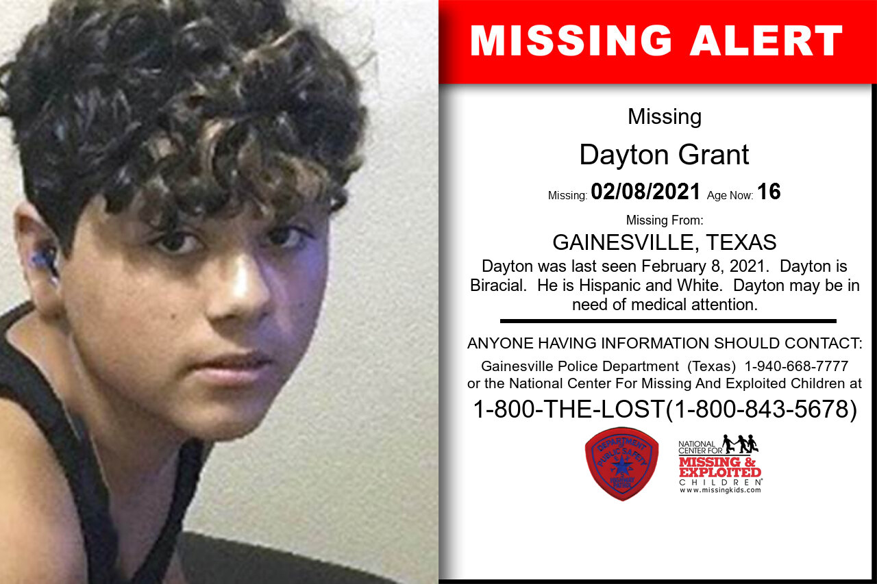 Dayton_Grant missing in Texas