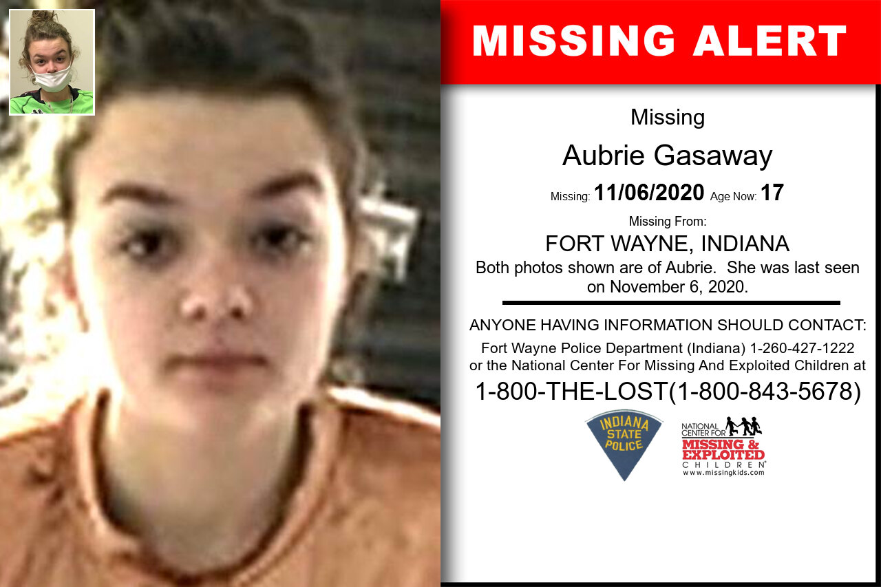 Aubrie_Gasaway missing in Indiana