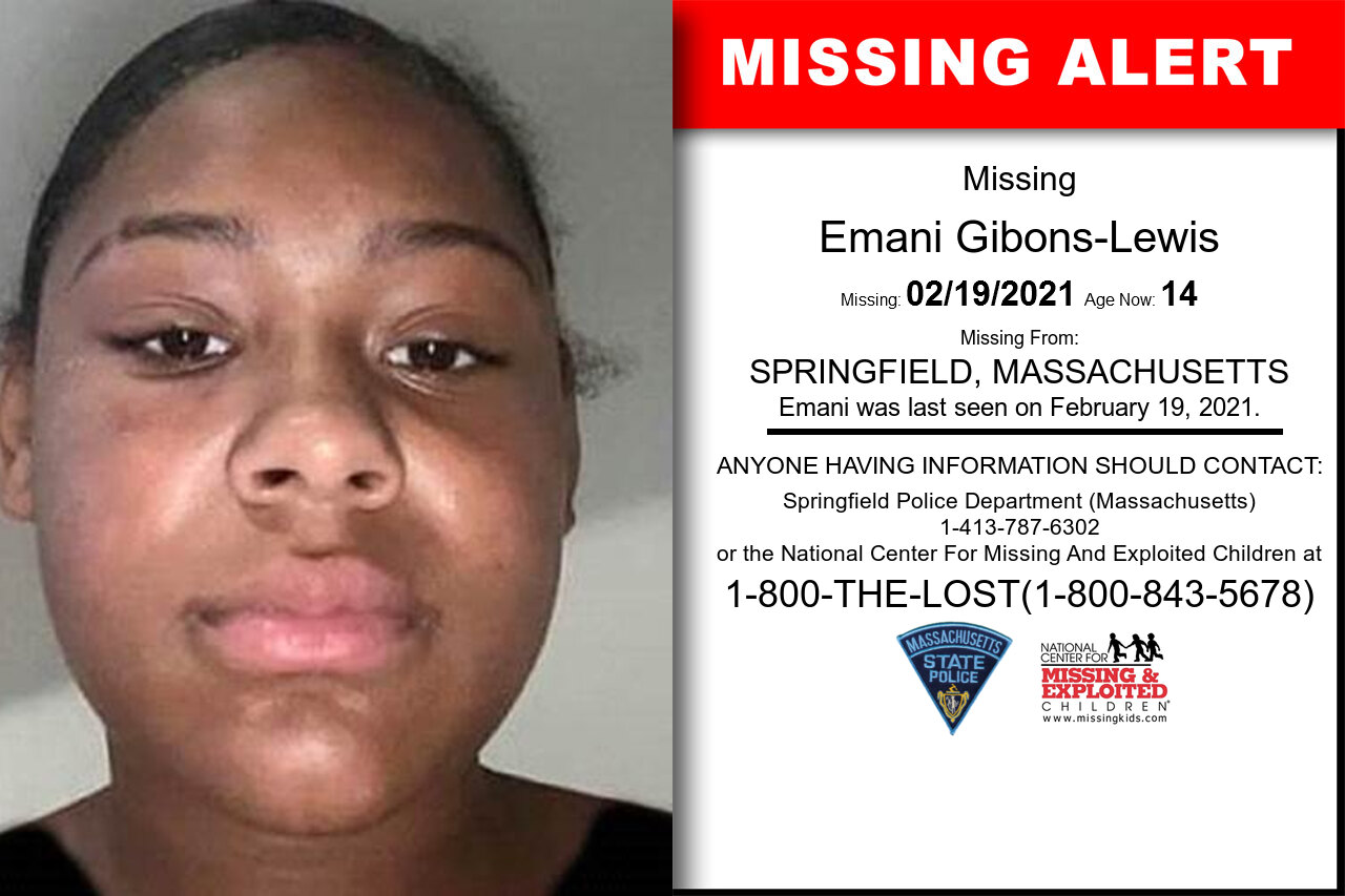 Emani_Gibons-Lewis missing in Massachusetts