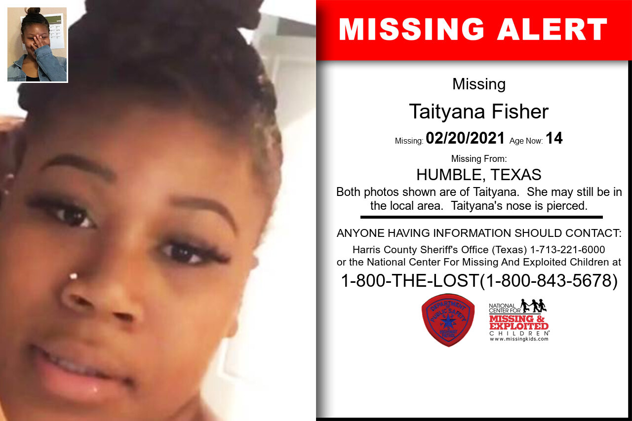 Taityana_Fisher missing in Texas
