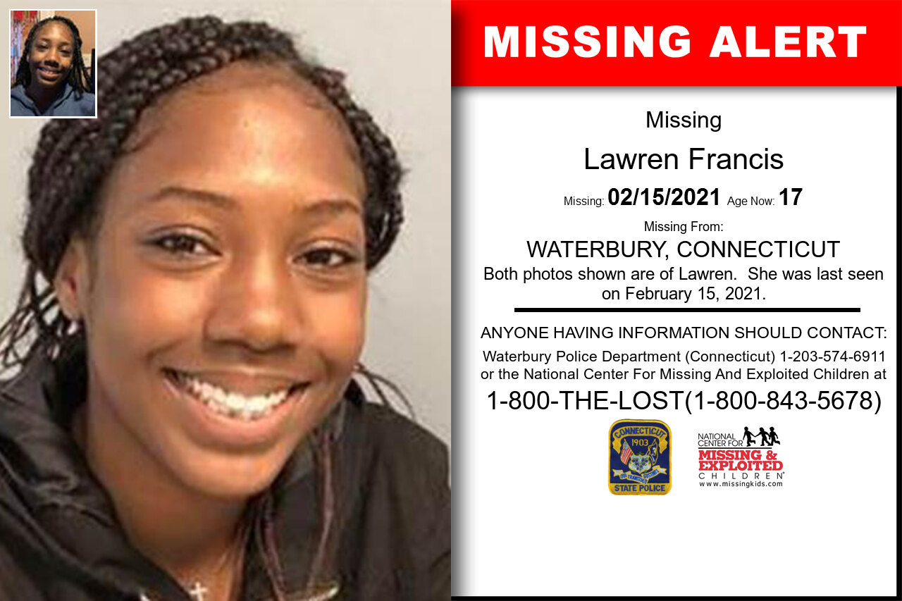 Lawren_Francis missing in Connecticut