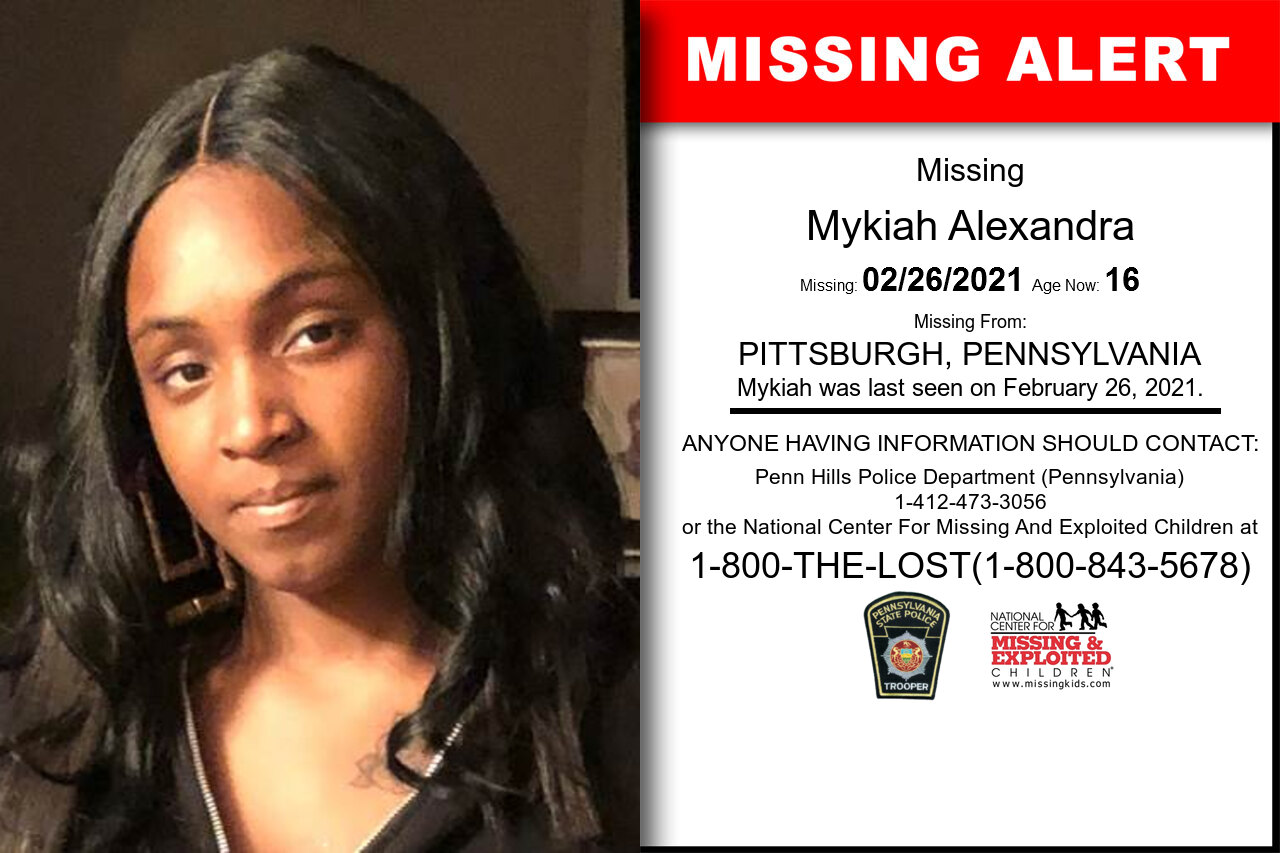 Mykiah_Alexandra missing in Pennsylvania