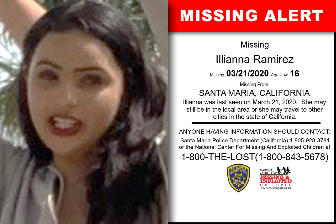 Illianna_Ramirez missing in California