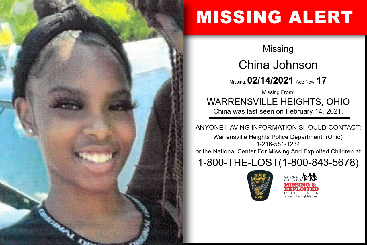 China_Johnson missing in Ohio