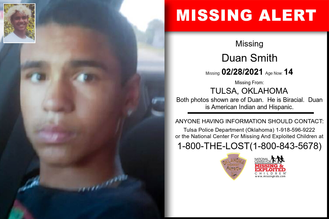 Duan_Smith missing in Oklahoma