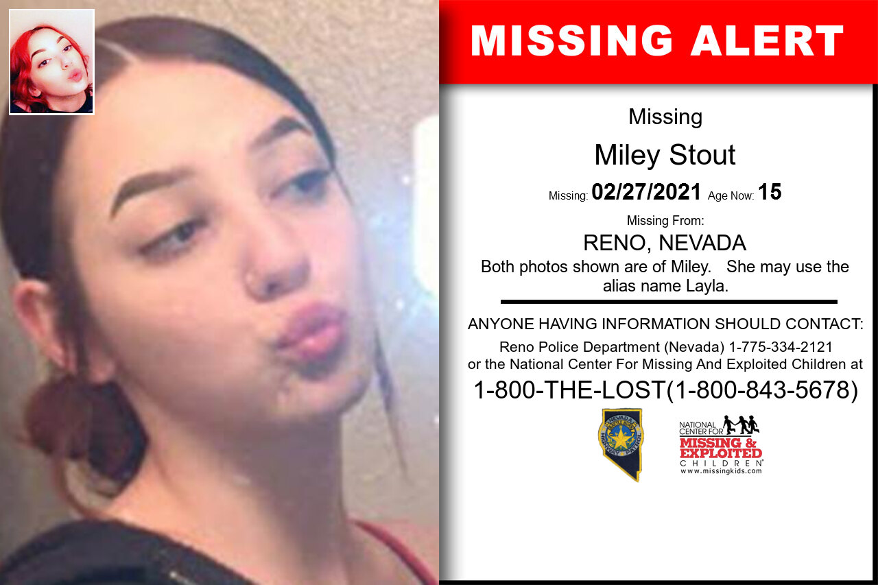 Miley_Stout missing in Nevada