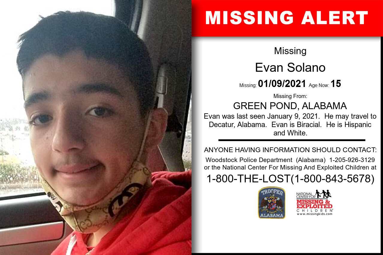 Evan_Solano missing in Alabama