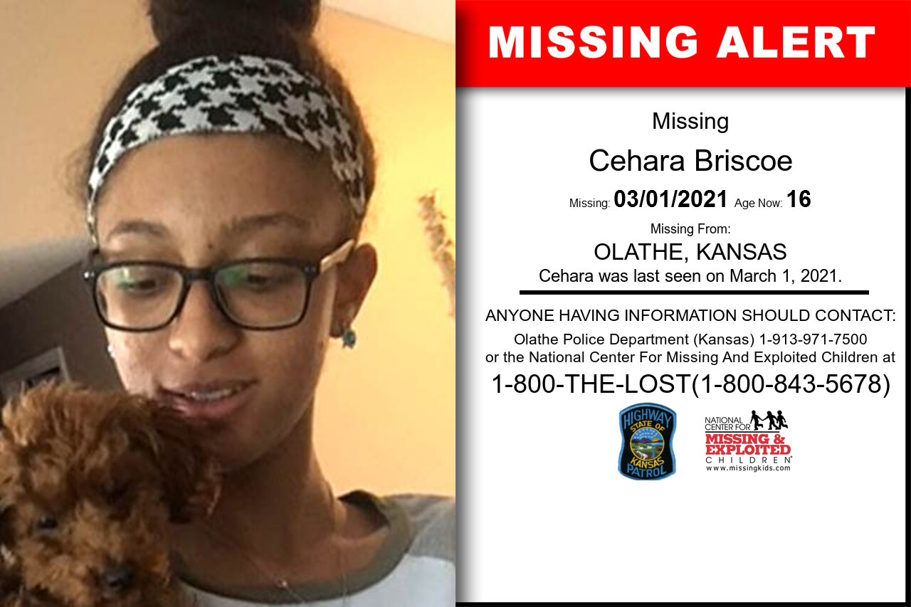 Cehara_Briscoe missing in Kansas