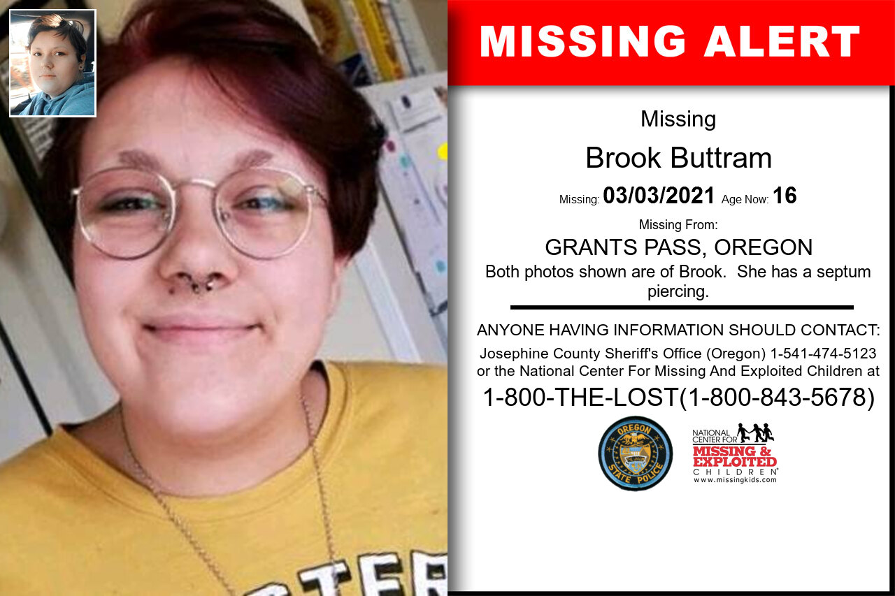 Brook_Buttram missing in Oregon