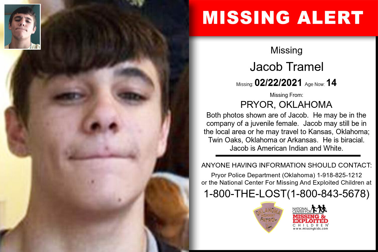 Jacob_Tramel missing in Oklahoma