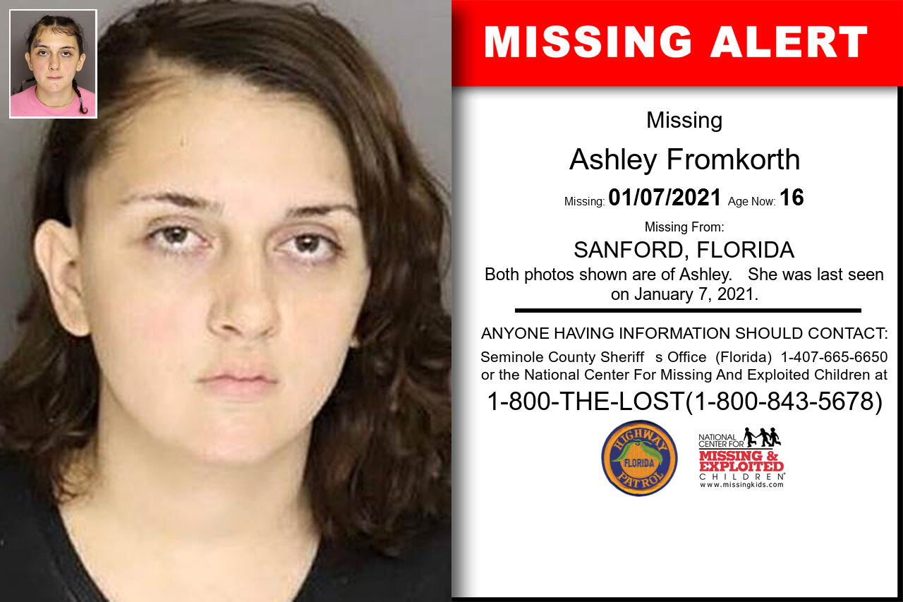 Ashley_Fromkorth missing in Florida